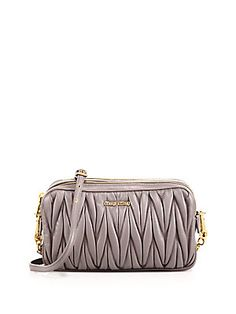 504333563f8 Miu Miu Matelasse Camera Bag 0400087325841 Be The First to Write a Review  Color Grey AED 4029.77