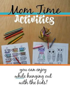 """has always worked really well for me and I think will too. AWESOME LIST of things to do for """"Me Time"""" with the kids around. Art Activities For Kids, Time Activities, Positive Parenting Solutions, Parenting Hacks, Time Management Strategies, Quick Crafts, Creative Crafts, Learn Art, Jokes For Kids"""