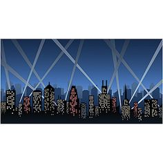 Add the City Spotlight Background Illustrations to your city themed event. The City Skyscraper Background Illustrations is simple to order.