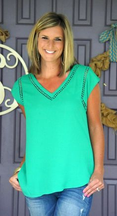 Stitch Fix Ciarra - I want this top!! 41 hawthorn Carla Crochet Detail Blouse Love the color, neckline and details!