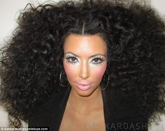 Kim Kardashian does Diana Ross. I wanna achieve this look for my bday and don't tone it down!