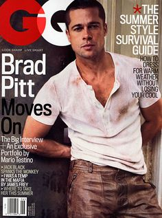 Brad Pitt- when he looked like this and wasn't being all weird in Chanel commercials.