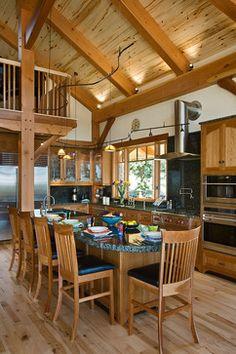 Sommer House - traditional - kitchen - denver - Mountain Timber Design, Inc.