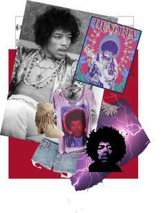 """Jimi Hendrix"" by mariegammond ❤ liked on Polyvore"