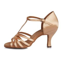 79b86e1b2eb Women s Standard Latin Dance Shoes Satin Ballroom Model-4030 - Beige -  CA1840ITMMD