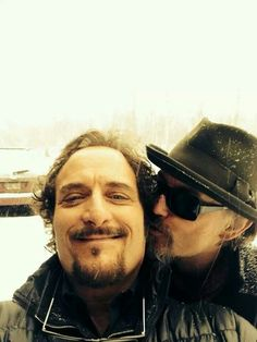 Kim Coates & Tommy Flanagan . Tig and Chibs . Sons of Anarchy SOA Samcro love <3