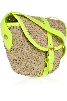 MARC BY MARC JACOBS Canteen woven seagrass cross-body bag great combo of natural and bright