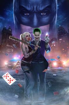 Joker and Harley Poster. Joker and Harley Poster Harley Quinn Tattoo, Le Joker Batman, Harley Quinn Et Le Joker, Harley And Joker Love, Der Joker, Harley Quinn Drawing, Margot Robbie Harley Quinn, Joker Art, Harley Quinn Cosplay