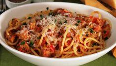 Spaghettis à la saucisse WW, recette d'un bon plat de pâtes parfumé à l'origan, facile et simple à réaliser pour un repas accompagné d'une bonne salade.