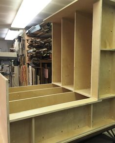 A progress shot. Loving all the storage options for our custom studio shops cashwrap built by custom Workworker @unactionjackson.  In the studio shop its also going to double as a work bench for us so we can make terrariums all day long in the space. #winwin  #theZenSucculent #durhamplantshop #durhamnc #ModernPlantStyle #theZenSucculent