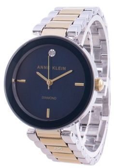 Features: Stainless Steel Case Two-Tone Stainless Steel Bracelet Quartz Movement Mineral Crystal Blue Selection Analog Display Diamond Decorations Pull / Push Crown Fixed Case Back Deployment Clasp 30M Water Resistance Estimated housing diameter: 32mm Estimated housing thickness: 8 mm Stainless Steel Bracelet, Stainless Steel Case, Anne Klein Watch, Diamond Decorations, Krystal, Gold Watch, Omega Watch, Quartz, Watches