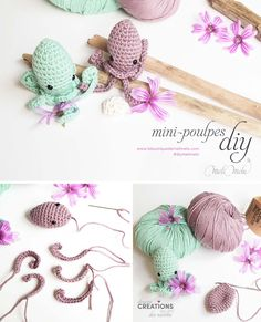 DIY mini-poulpes, tuto crochet @laboutiquedemelimelo