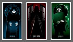 The geek in me pinned these. Cool graphic design.