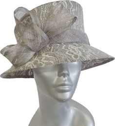 Swan Hat Womens Oversized Dressy Crinoline Cocktail Memorial Day Summer Church Fascinator