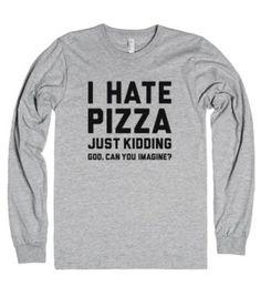 I Hate Pizza-Unisex Heather Grey T-Shirt