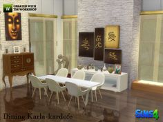 Sims 4 CCu0027s   The Best: Black White Dining By Ung999 | The Sims 4 (Cps) |  Pinterest | Sims And Video Game