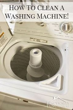 Best DIY Projects: It's time to clean your washing machine! Even if it's not visibly dirty and grungy, this will help clean soap scum and mineral deposits in the pipes and hoses. You just need vinegar, bleach, and two wash cycles!