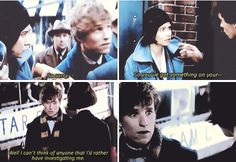 when you meet your future wife and can't stop being awkward around her  - Fantastic Beasts and Where to Find Them
