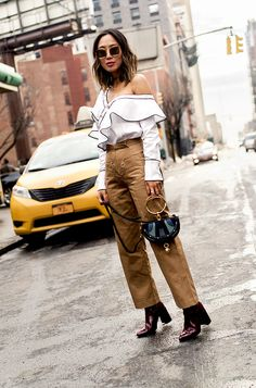 Discover the pant trends bloggers have recently been choosing over their go-to denim styles.