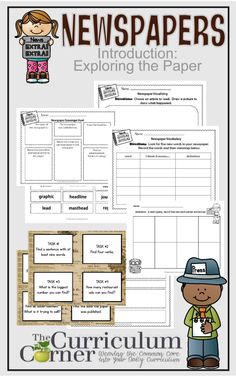 Blank Newspaper Template For Kids Printable  Newspaper Homework
