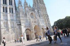 Pendant tout l'été, des concerts gratuits sont organisés à la cathédrale de Rouen, (Seine-Maritime). (©Catherine Dente)