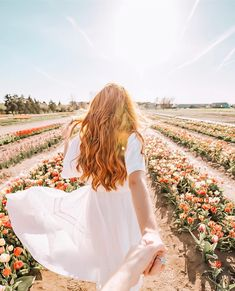 Spring is in full bloom and is showing us all what it means to let your hair down and have some fun amongst the flowers . Aesthetic Photo, Aesthetic Pictures, Carlsbad Flower Fields, Alexis May, Tulip Fields, Instagram Pose, Foto Pose, Let Your Hair Down, Girl Photography Poses