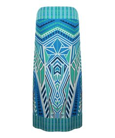 Another great find on #zulily! Dex Royal & Turquoise Geo Maxi Skirt - Plus by Dex #zulilyfinds