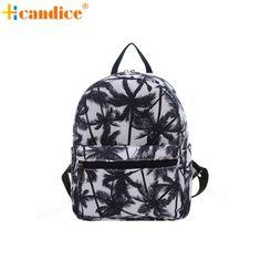 e0746012f061 Naivety 2016 New Lady Fashion Canvas Shoulder Printing Bag Woman Backpack  Rucksack JUN27 drop shipping Teenager