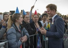 Prince Harry Photos Photos - Prince Harry sings happy birthday to Rebekah Reid outside the National War Memorial on May 9, 2015 in Wellington, New Zealand. Prince Harry is in New Zealand from May 9 through to May 16 attending events in Wellington, Invercargill, Stewart Island, Christchurch, Linton, Whanganui and Auckland. - Prince Harry Visits New Zealand - Day 1