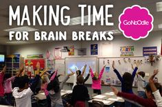GoNoodle! Awesome site full of short videos of brain breaks for math, exercise, transition, etc.