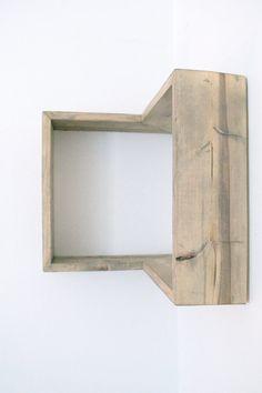 DIY bookshelves is made from quality pine and fit 90 degree wall corner. Diy Wood Shelves, Box Shelves, Floating Shelves, Shelving Ideas, Wall Shelves, Home Design, Diy Corner Shelf, Diy Furniture, Furniture Design