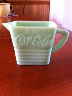 "Coca Cola Jadeite 3 3 4"" Pitcher"