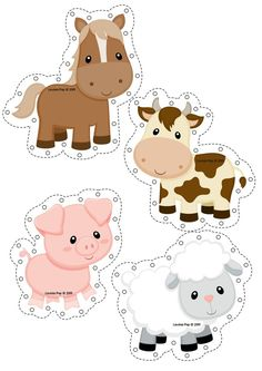 Fine Motor Printable Activities for October - Fine Motor Printable Activities for October Farm animal threading cards. Farm Animal Party, Farm Animal Crafts, Farm Animal Birthday, Barnyard Party, Horse Crafts, Farm Birthday, Farm Party, Farm Animals, Art For Kids
