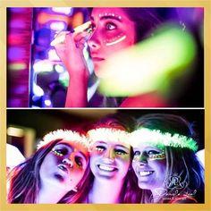 Esta novidade é para quem adora brilhar, ou também, para quem está pensando em fazer uma Festa Neon, Festa Carnaval, Festa Micareta ou Festa à fantasia! É a maquiagem que brilha no escuro, que na verdade podem ser usadas em festas de qualquer tema, na hora da balada, é muito divertido!