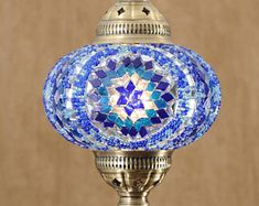 FREE SHIP Turkish Moroccan Handmade Mosaic Hanging Ceiling Lantern Night Tiffany Accent Lamp Pendant Light Fixture Lighting Blue