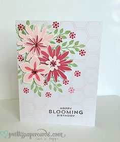 Bloomin 1  Honeycomb embossing folder stamping for background
