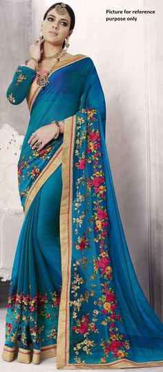 Embroidered Georgette Saree #KAL 190