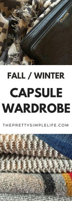 Fall|Winter Capsule Wardrobe | The Pretty Simple Life