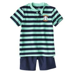 Just One You™Made by Carter's® Newborn Boys' 2 Piece Set - Turquoise/Blue
