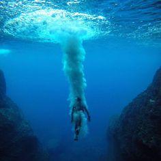 "783.1k Likes, 2,367 Comments - Instagram (@instagram) on Instagram: ""Victor de Valles Ibañez (@victordevalles) dove into a brilliant blue sea cave in the Mediterranean…"""