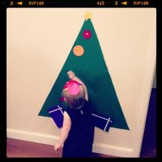 Felt Christmas Tree Tutorial for toddlers so they can leave the real one alone - Move Fuel Love