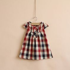 2,3,4,5,6,7,8,9,10 years toddler girl dress baby clothes red black plaid dress on Etsy, $28.99