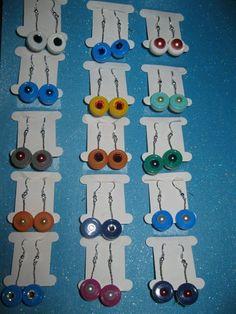 Flip cap dangly earring collection