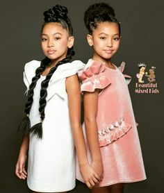 Anais & Mirabelle - 10 Years • African American & British ❤❤ Pretty Baby, Pretty Mixed Girls, Baby Love, Beautiful Children, Beautiful Babies, Cute Twins, Cute Babies, Baby Kids, Mixed Race