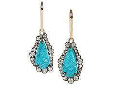 Kimberly McDonald Chrysocolla Druze Earrings