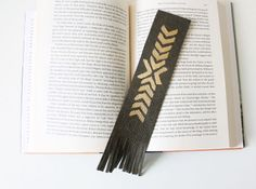 DIY Painted Leather Bookmark