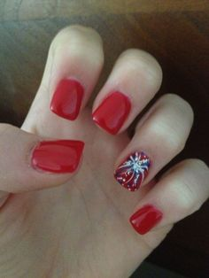 Simple 4th of july nail idea nail ideas pinterest makeup nail cool 17 easy diy 4th of july nail art designs for short nails solutioingenieria