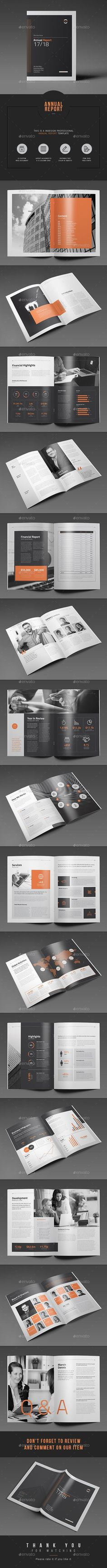Annual Report Template InDesign INDD. Download here: https://graphicriver.net/item/annual-report/17559077?ref=ksioks