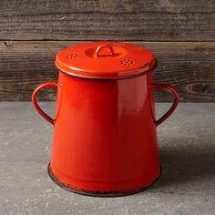 Vintage Enamel Compost Bin #williamssonoma (for Pam)