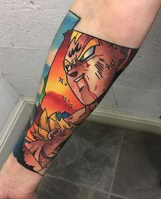 Colorful Vegeta Tattoo